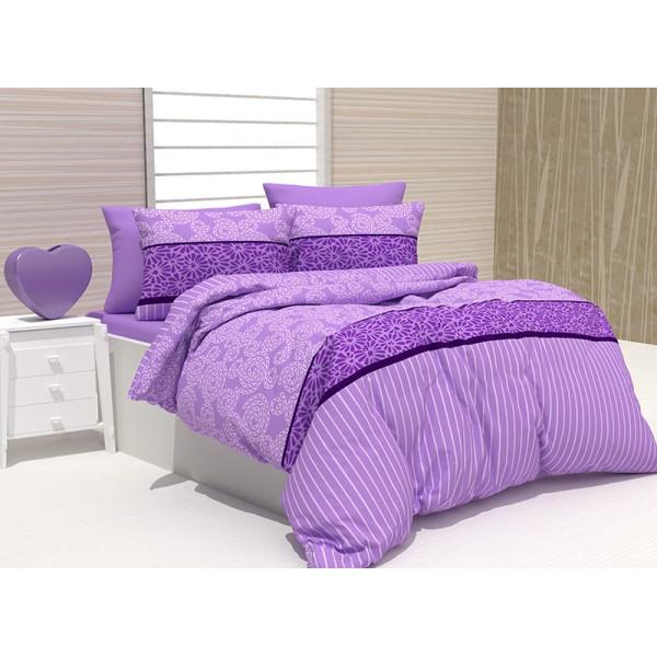 Памучен спален комплект Фиера - лилав