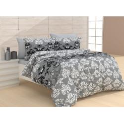 Памучен спален комплект Рокси Сив