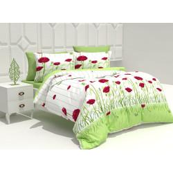 Памучен спален комплект Алена зелена
