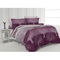 Красив памучен спален комплект Амелия лилава