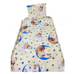 Памучен бебешки спален комплект - Мечето Мо