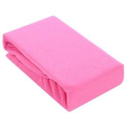 Розов чаршаф с ластик - Памучно трико