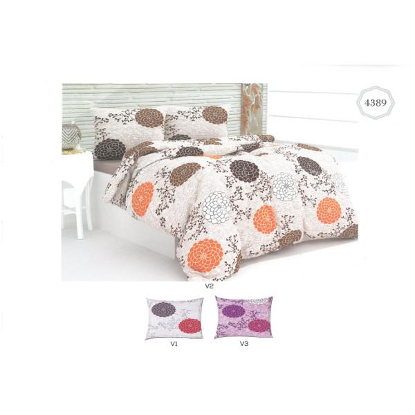 Памучен спален комплект Божур