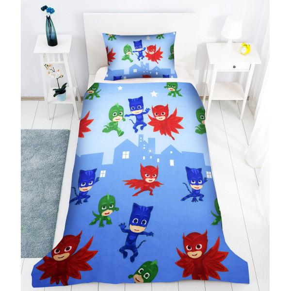 Памучен спален комплект за деца - PJ Masks син