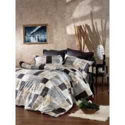 Памучен спален комплект Индустриал черно