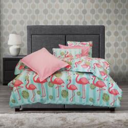100% Памучен детски спален комплект Розово фламинго