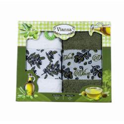 Сет хавлиени кърпи за кухня - Зехтин