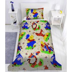 Памучен детски спален комплект Мечо Пух и Приятели