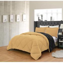 Спален комплект с олекотена завивка в Златисто и Черно