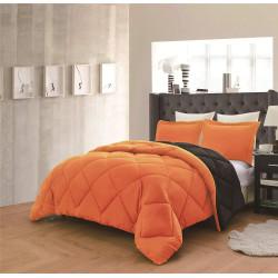 Спален комплект с олекотена завивка в Оранжево и Черно