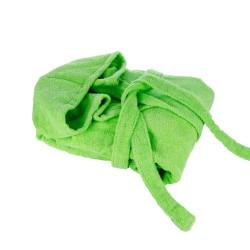 Зелен памучен халат за баня