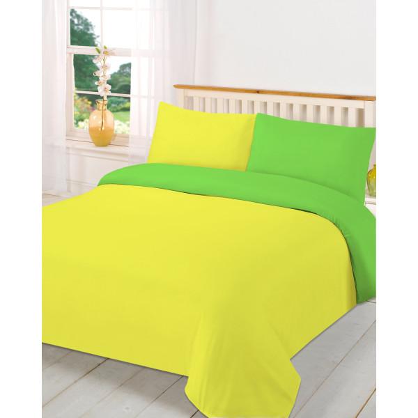 Двуцветен спален комплект със завивка Ж-З