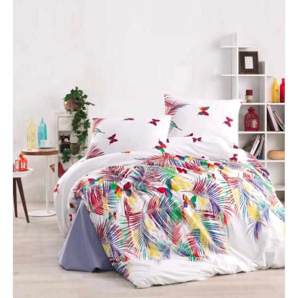 Дизайнерски памучен спален комплект Цветно лято
