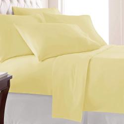 Едноцветен спален комплект - Жълт