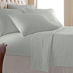 Едноцветен спален комплект - Сив