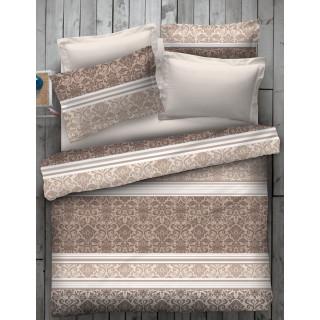 Спален комплект в бежово с орнаментика - 100% Памук