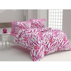 Памучен спален комплект Адрия - розов