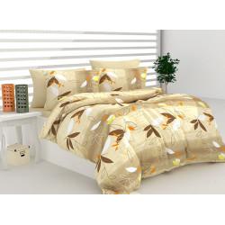 Памучен спален комплект Леонеса - бежов