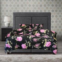 Памучен спален комплект Дива роза - лилав