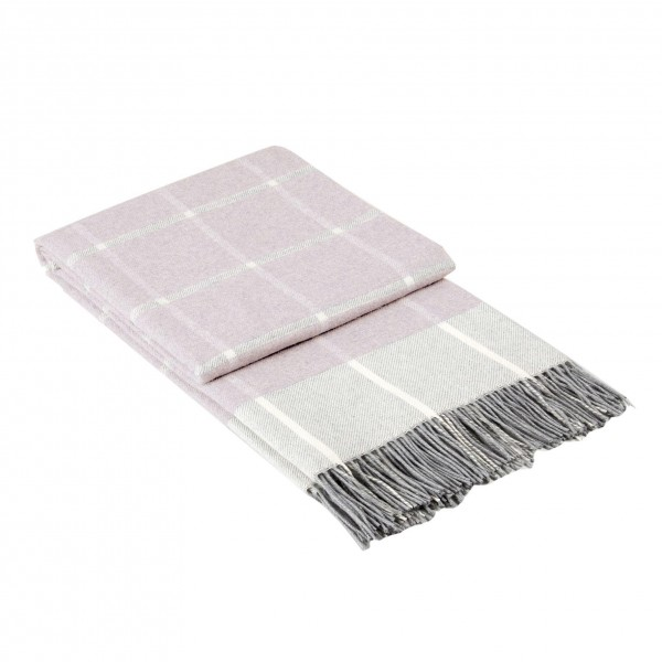 Декоративно одеяло - каре пудра