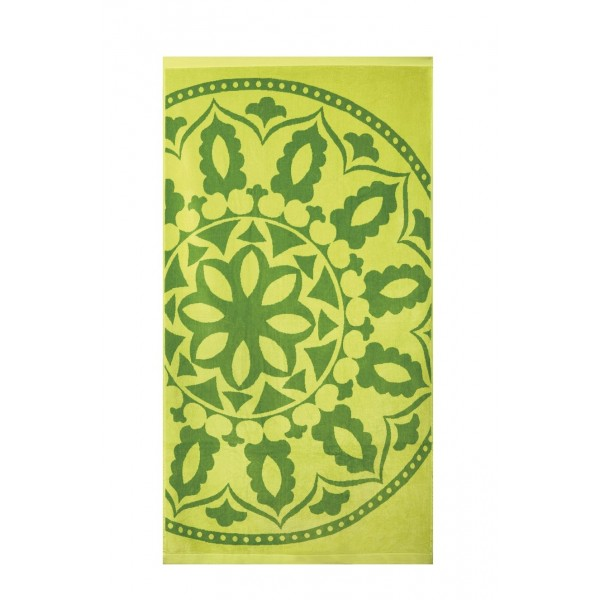Кърпа за плаж Etno green - 100% Памук