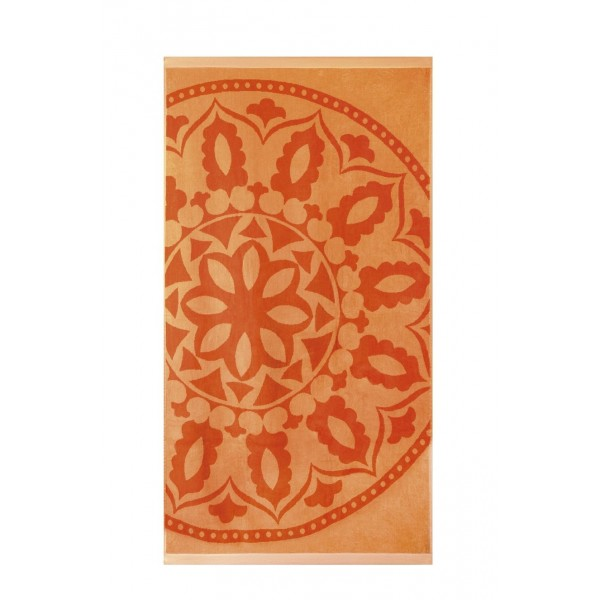 Кърпа за плаж Etno orange - 100% Памук