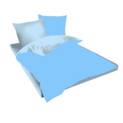 Двуцветен спален комплект в синьо и небесно синьо - Памук Ранфорс