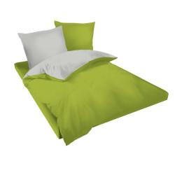 Двуцветен спален комплект в сиво и зелено - Памук Ранфорс