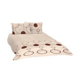 Памучно покривало за спалня с две калъфки за възглавница Присия