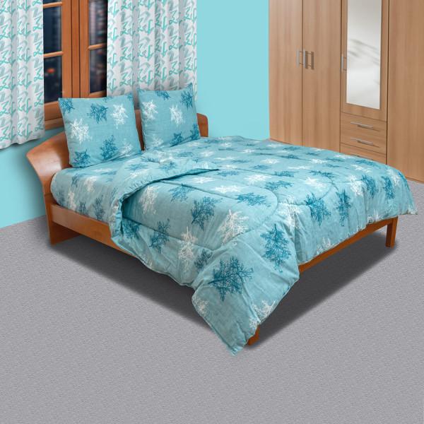 Памучен спален комплект Finiks aqua