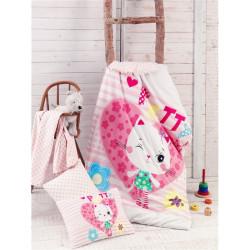 Бебешки памучен спален комплект Малката Кити - Спално бельо Ранфорс