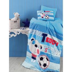 Бебешки памучен спален комплект Мечето футболист - Спално бельо Ранфорс