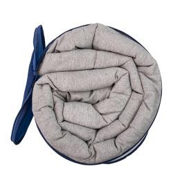 Комфортна олекотена завивка в сив цвят - 100% Памук