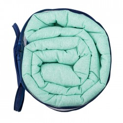 Комфортна олекотена завивка в зелен цвят - 100% Памук