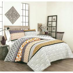 100% Памучен спален комплект с олекотена завивка Korsika