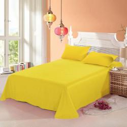 100% памучен чаршаф с калъфки за възглавница YELLOW