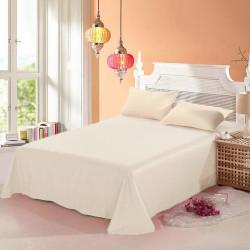 100% памучен чаршаф с калъфки за възглавница CREAM
