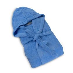 100% Памучен халат за баня Blue