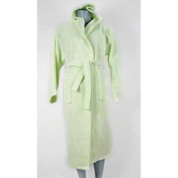 Класически халат цвят ЗЕЛЕН