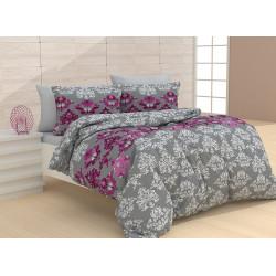 Памучен спален комплект Рокси Лилав