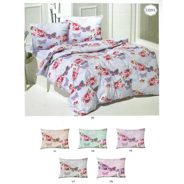 Памучен спален комплект Цветя и Пеперуди
