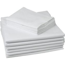 Памучна калъфка за възглавница - бяла