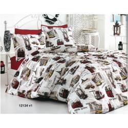 Дизайнерско 100% памучно спално бельо World