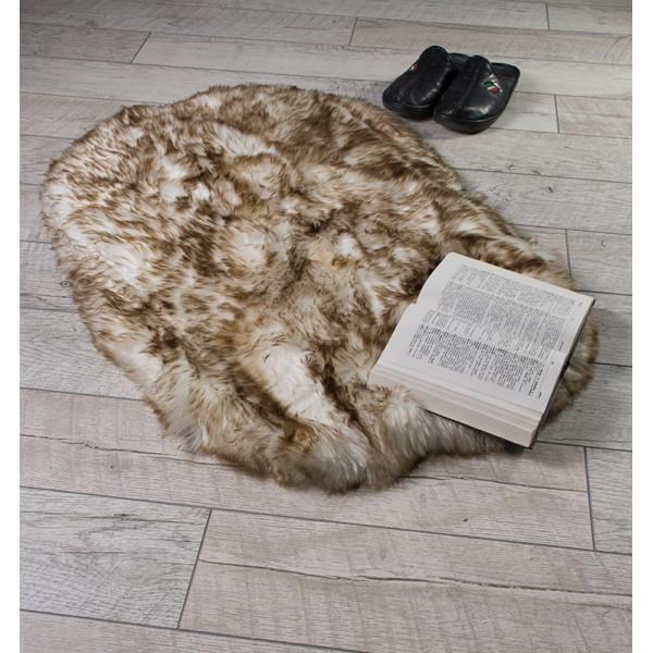 Пухкаво кожно килимче Меланж