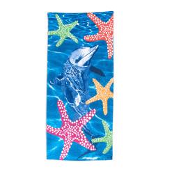 Кърпа за плаж Делфин и морски звезди