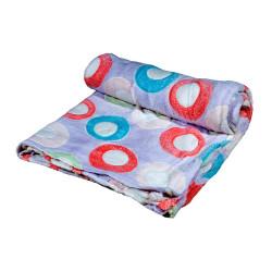 Дизайнерско одеяло плюш Цветни кръгове