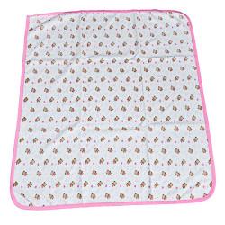 Памучна бебешка пелена - розов кант