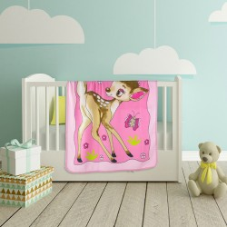 Меко бебешко одеяло в розово - Грация