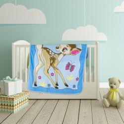 Меко бебешко одеяло в синьо - Грация