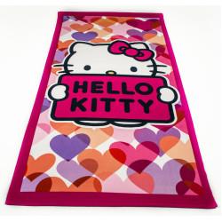 Кърпа за плаж - Здравей, коте/ розова